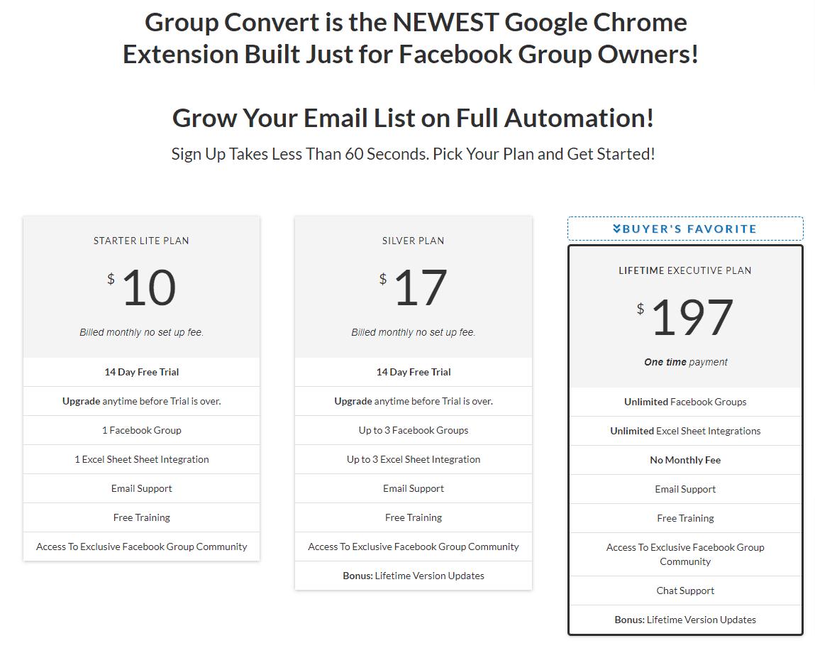 Group Convert Plans