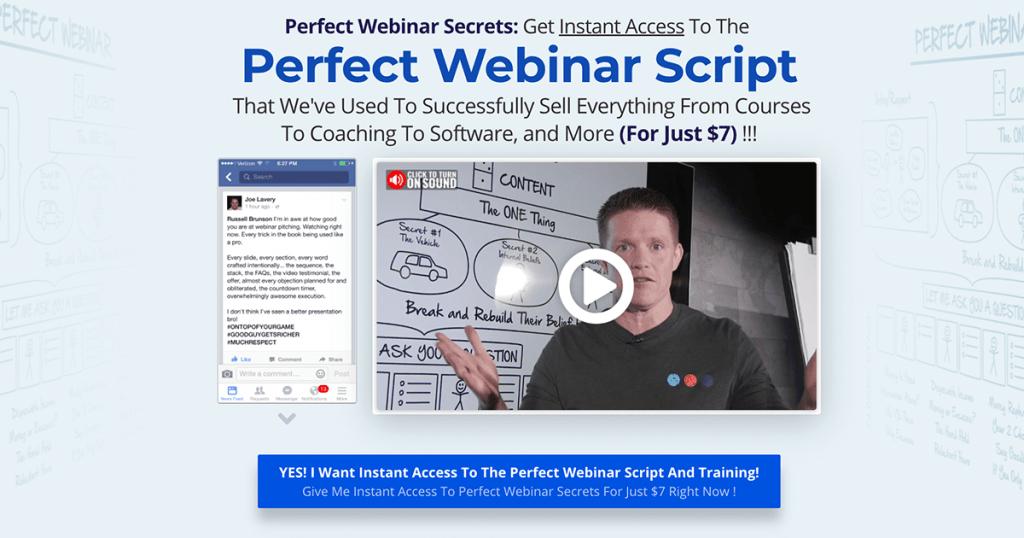 Russel Brunson Perfect Webinar Secrets Script review