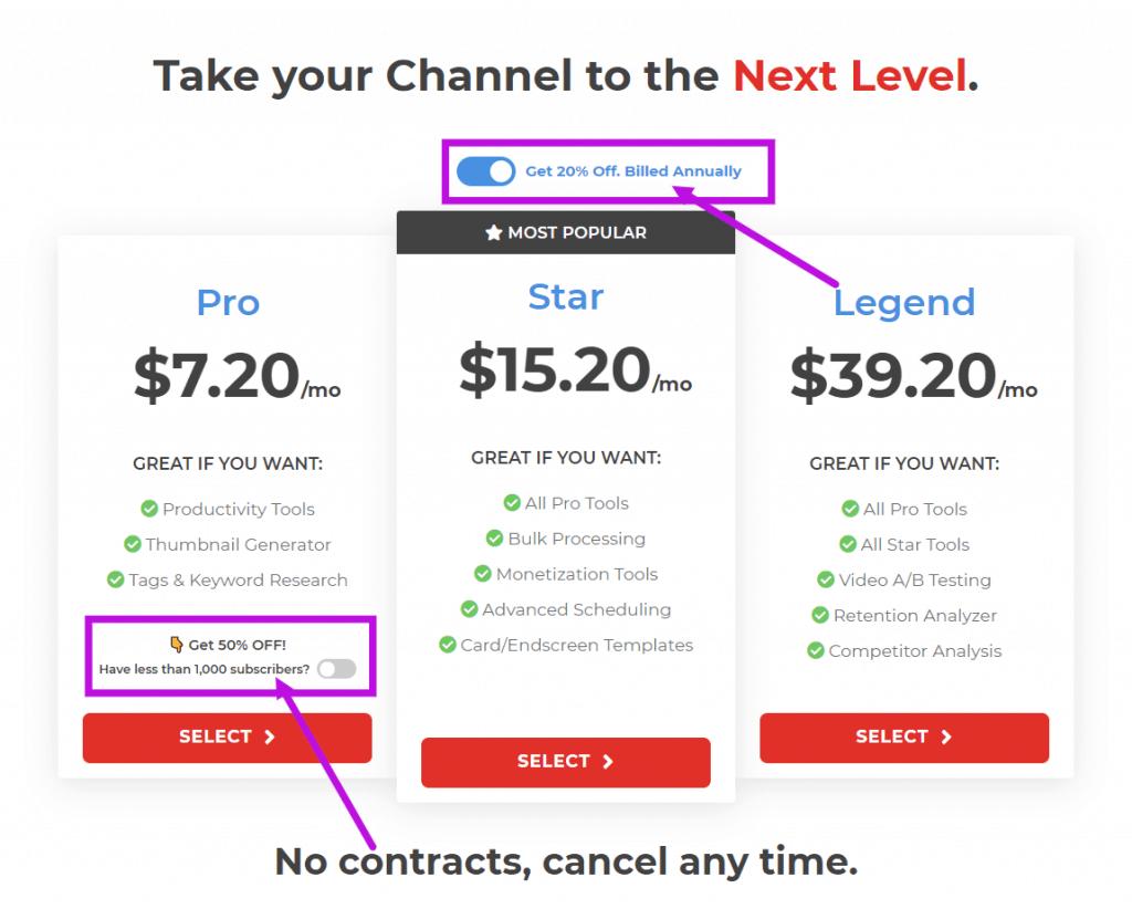 Tubebuddy Pricing